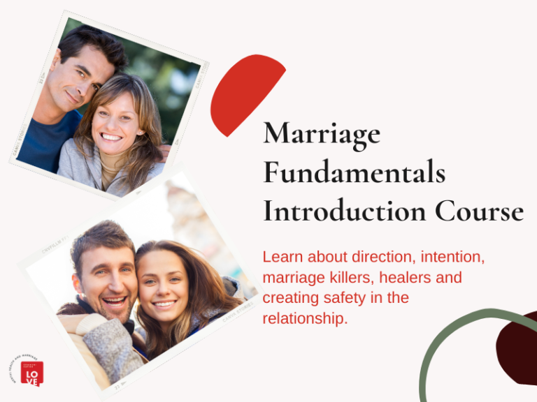 Marriage Fundamentals Introduction Course Cover Image of happy couples