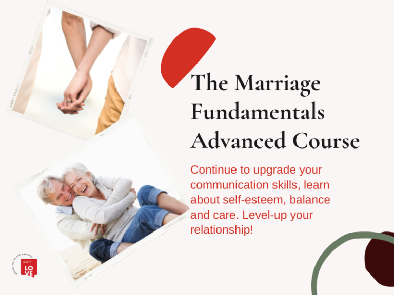 Marriage Fundamentals Advanced Course Cover